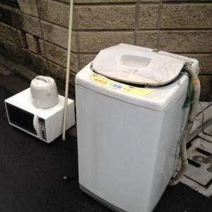洗濯機電子レンジ回収