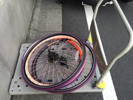 自転車のタイヤを処分したい