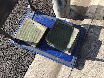コンクリートブロックの回収