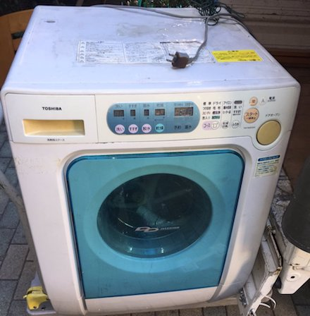ドラム式洗濯機の回収